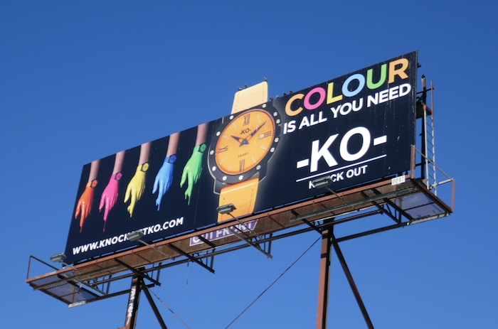 KO Knock Out watch Colour billboard