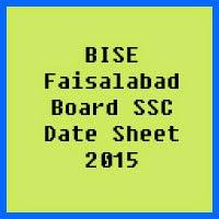 SSC Date Sheet 2017 BISE Faisalabad Board