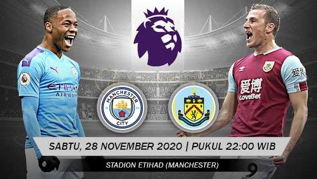 Prediksi Manchester City Vs Burnley, Sabtu 28 November 2020 Pukul 22.00 WIB @ Mola TV