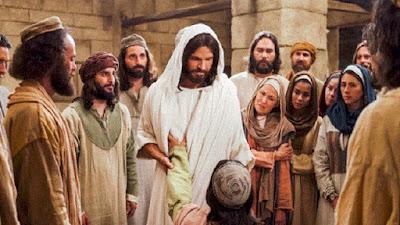 imagem de Jesus curando