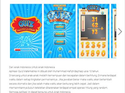 Berusia 10 Tahun, Siswa SD Ini Jago Bikin Aplikasi Game Di Android.