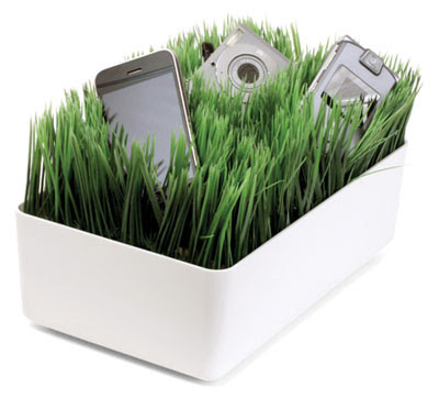 charging station with grass-like look