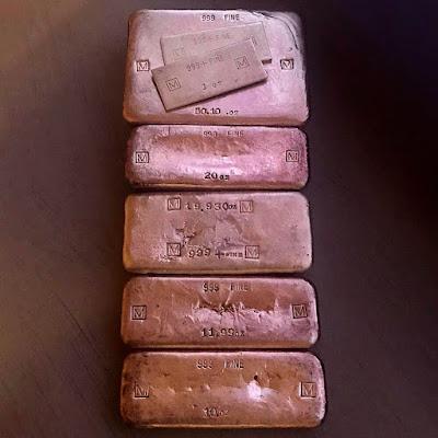 W. E. Mowrey Company Silver Ingots