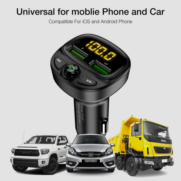 Car Phone Charger Fast Charging MP3 TF Card Music Car Kit