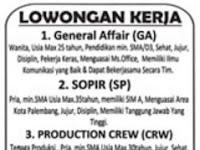 Lowongan Kerja CINDAI Palembang