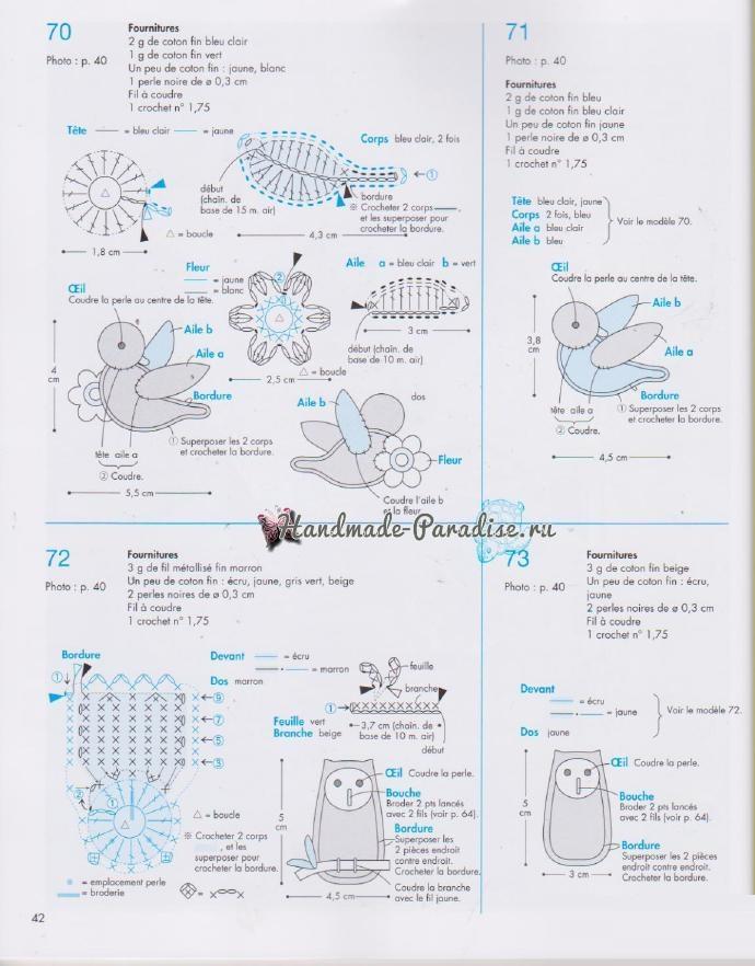Схемы вязания птичек амигуруми (3)
