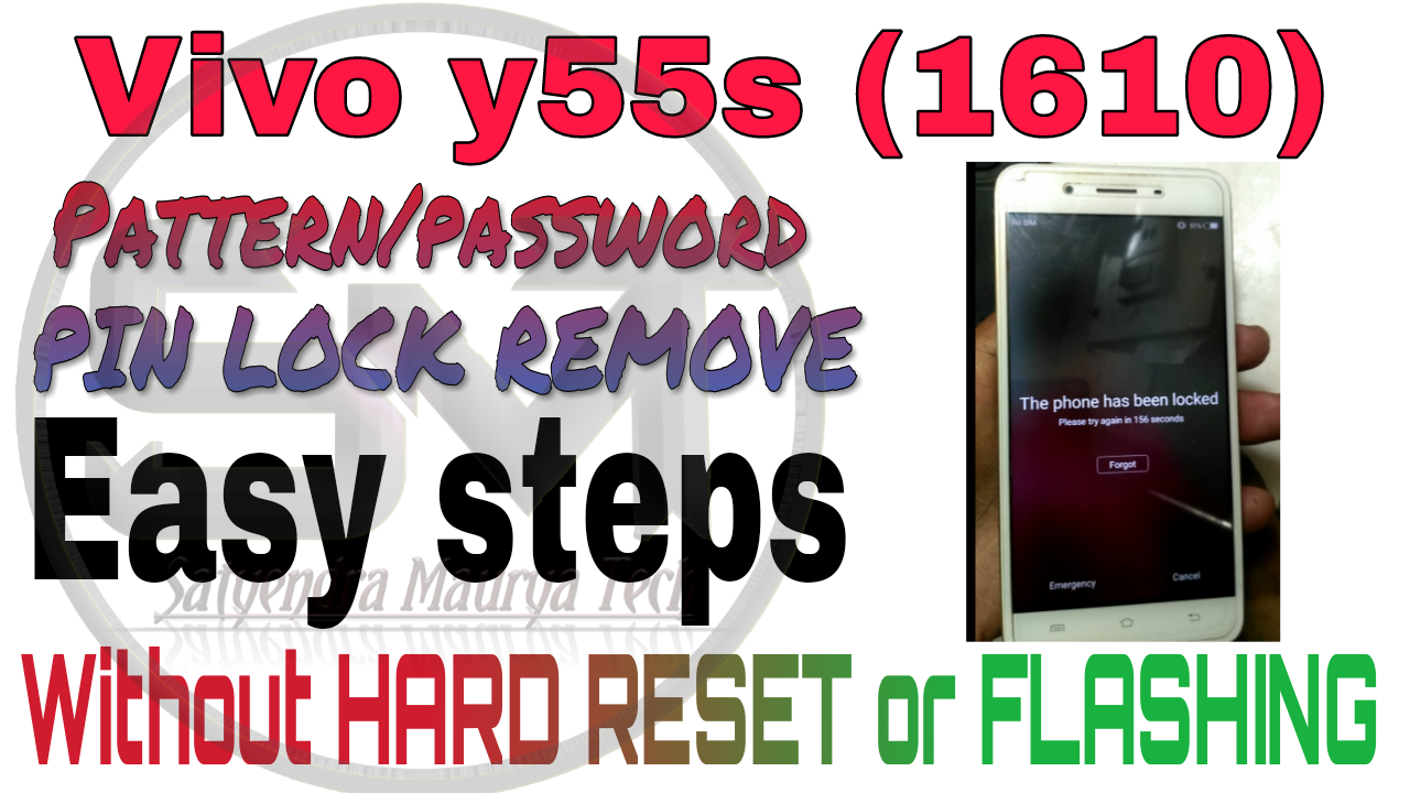 Vivo Y55s (1610) Pattern lock/Password lock remove without hard