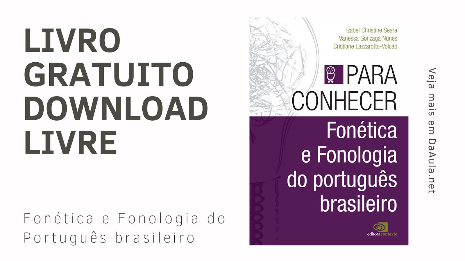 Livro: Fonética e Fonologia do Português Brasileiro