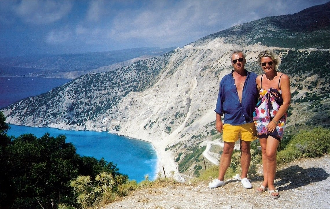 Dimitris and me.Kefalonia,above Myrtos beach.