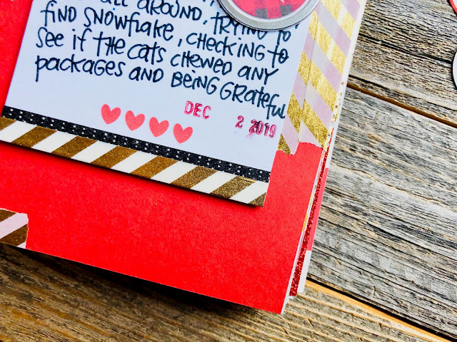 #buffalo plaid #heart tag #30 Days Of Lists #30lists #lists #junk journaling