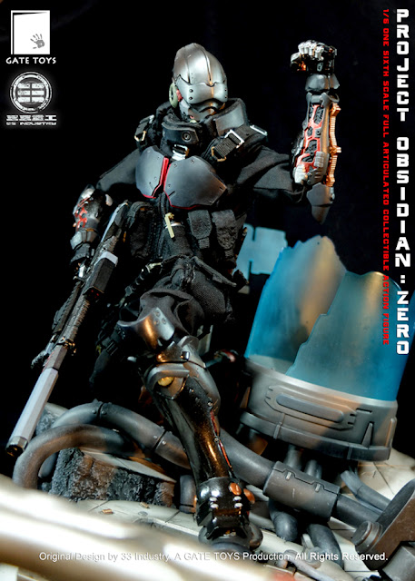 """osw.zone GATE TOYS X 33 Industry 1 / 6. Scale """"Project Obsidian: ZERO"""" 12 inch figure with diorama"""