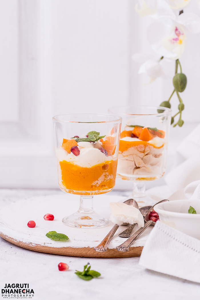 This quick and easy Vegan Mango Mess features crunchy vegan cardamom meringue, a jumble of whipped coconut cream and the King of fruit - Mango. A perfect dessert to celebrate the sunshine!