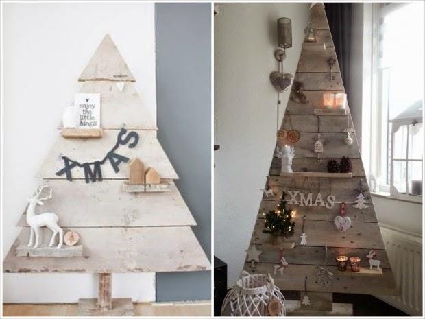 hacer rbol de navidad casero con palets - Arbol De Navidad Casero