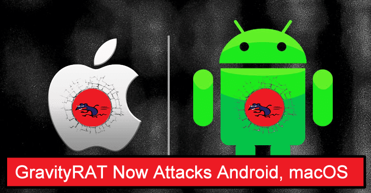 Infamous Windows GravityRAT now Attacks Android, macOS Devices