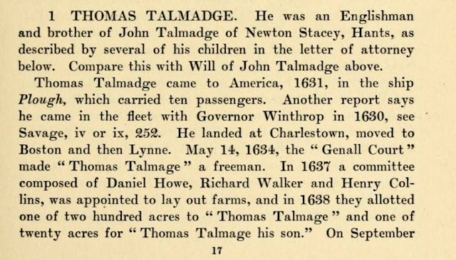 Thomas Talmage 1631