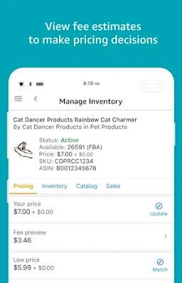 Screenshot Amazon Seller