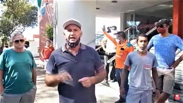 Donos de Bares e Botecos fazem manifestação em frente à Câmara de Aracruz