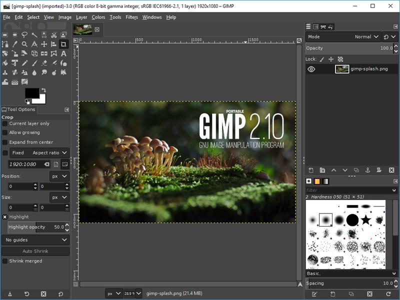 Aplikasi Portabel Untuk Ngeblog : GIMP