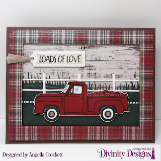 Stamp/Die Duos: Loads of Love, Paper Collection: Rustic Christmas, Custom Dies: Treat Tags, Farm Fence, Grass Lawn, Grass Hill, Pierced Rectangles