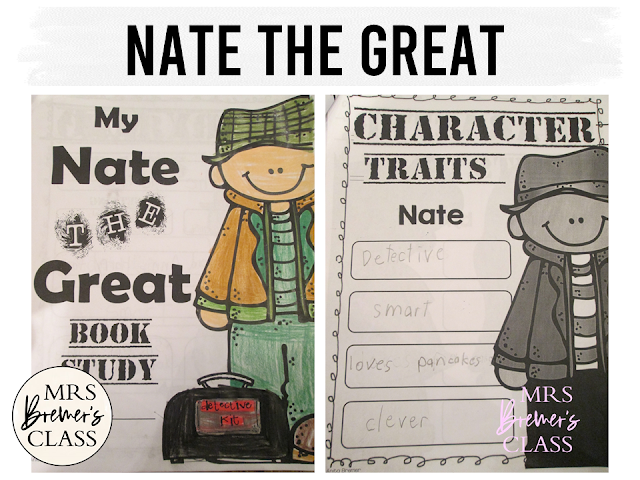 Our class LOVES Nate the Great! Here are some fun Nate the Great book study companion activities to go with the books by Marjorie Weinman Sharmat. Perfect for whole class guided reading, small groups, or individual study packs. Packed with lots of fun literacy ideas and standards based guided reading activities. Common Core aligned. Grades 1-2 #bookstudies #bookstudy #novelstudy #1stgrade #2ndgrade #literacy #guidedreading #natethegreat