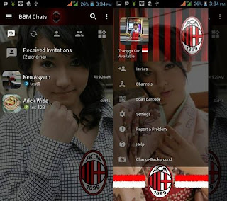 BBM Mod Change Background AC Milan v3.1.0.13 Apk Gratis 2016