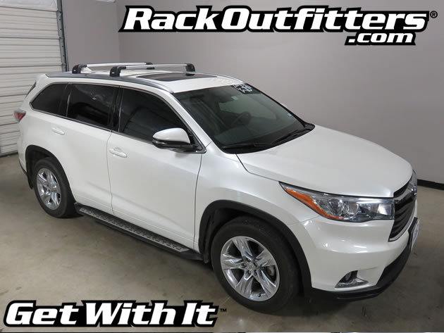 Toyota Highlander Thule Silver Aeroblade Edge Roof Rack