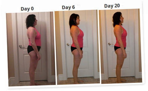 Detox diet before-after photo feedback testimonial