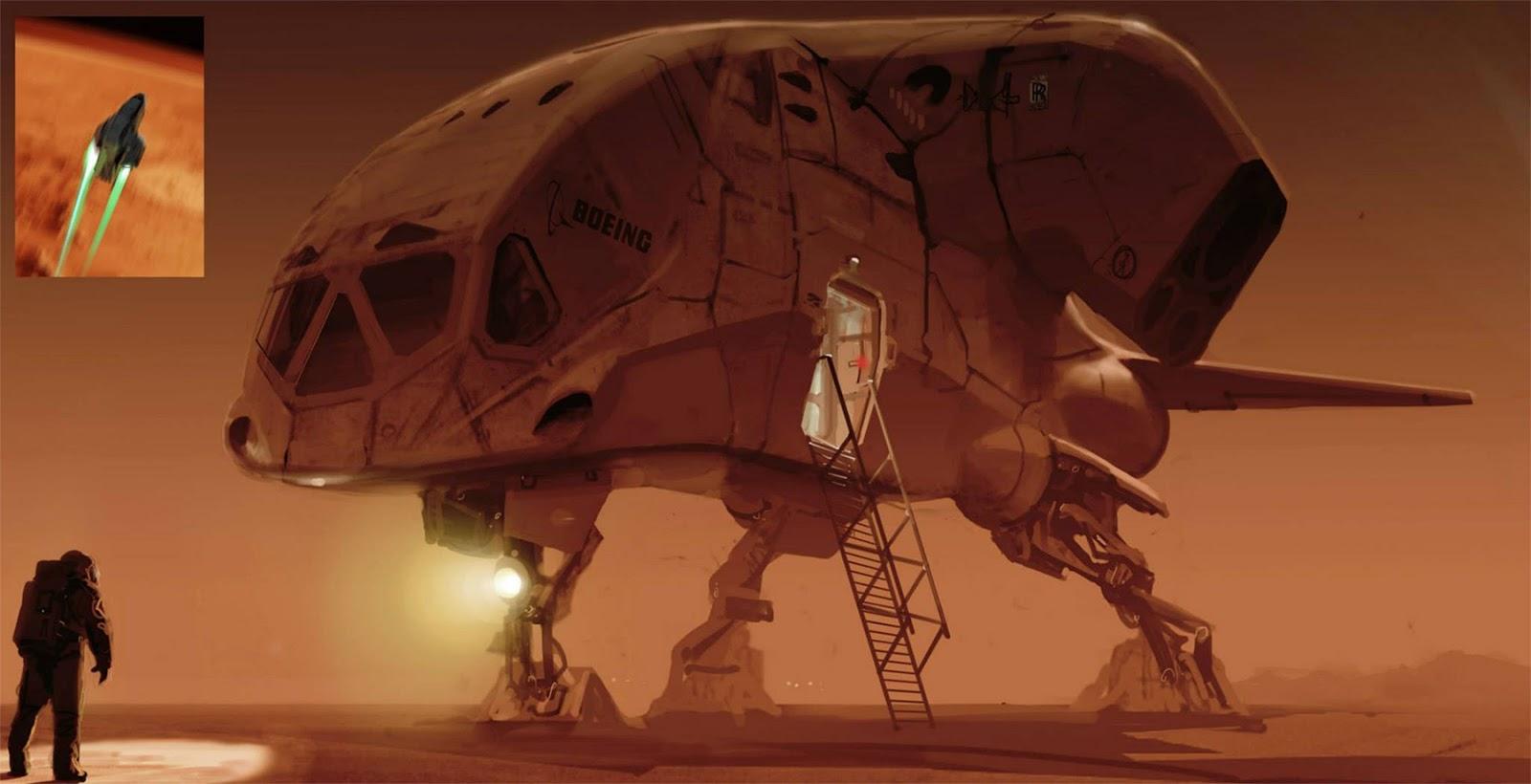 Boeing Mars lander concept by Romek Delimata