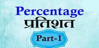 Percentage Maths in Hindi