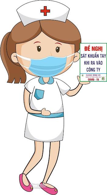 vector nữ y tá phòng chống Coronavirus file Corel