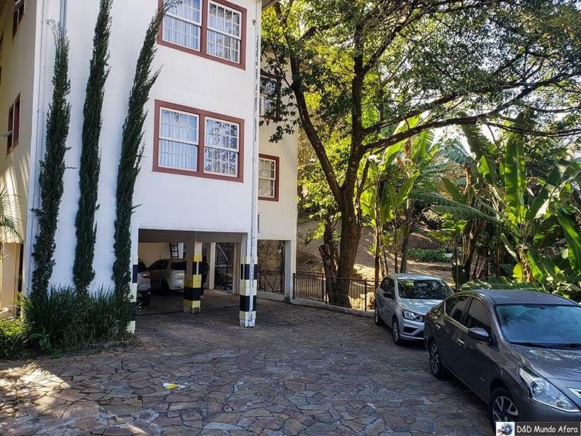 Estacionamento da Pousada Arcadia Mineira - dica de pousada em Ouro Preto