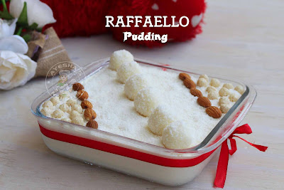 raffaello pudding easy to make desserts recipes sweets coconut desserts desiccated coconut recipes raffaello candy dessert yummy pudding recipe simple pudding party pudding