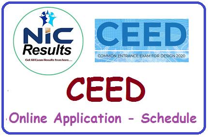 CEED Online Application - Schedule