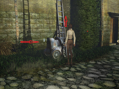 вставлен ключ и лестница установилась на чердак в игре сибирь