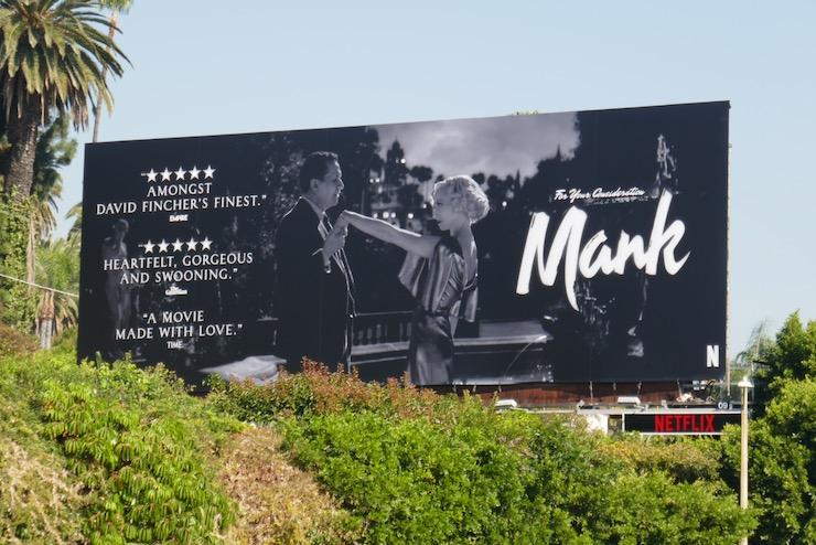 Mank movie FYC billboard