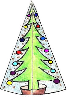 Cartão de natal com dobraduras