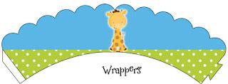 Wrappers para Cupcake para Imprimir Gratis de Tiernos Bebés de la Selva.