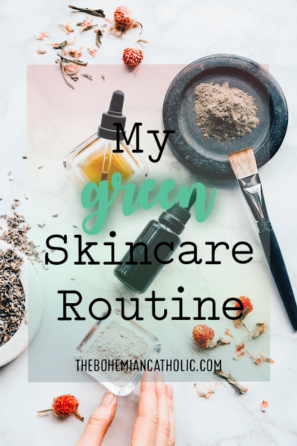 bohemian catholic green skin care routine pinterest pin