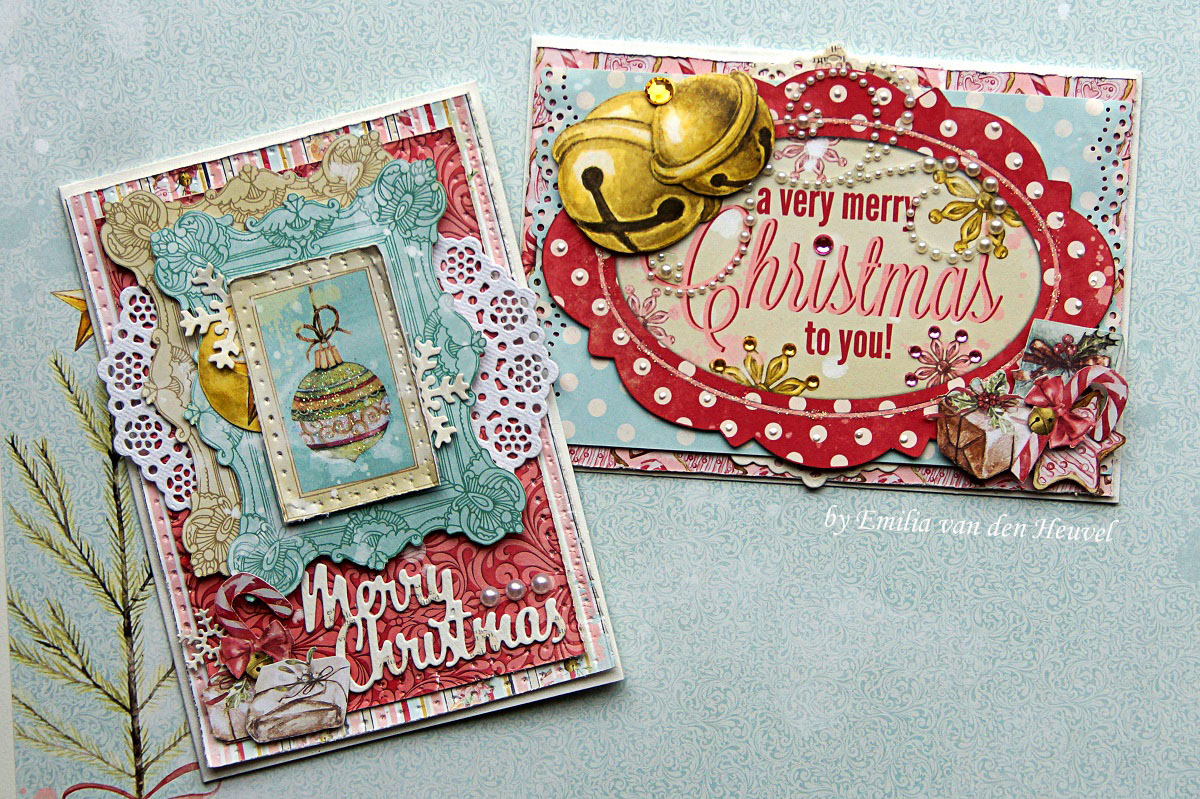 BoBunny: Vintage Christmas Cards featuring Carousel Christmas - with ...