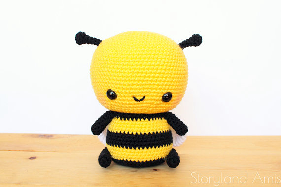 Amigurumi Crochet Pattern Kawaii Bee Digital Download | Etsy | 380x570