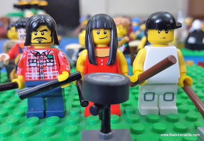 LEGO Dave Grohl (Nirvana/Foo Fighters), Meg White (White Stripes) and Travis Barker of Blink 182