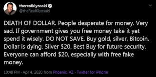 Kyosaki Tweet Against Dollar