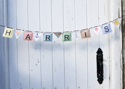 Printed canvas name banner