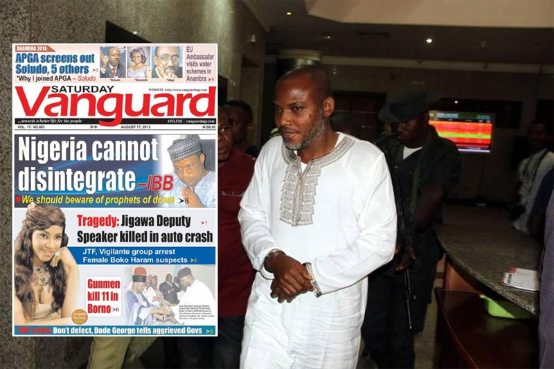 Mass boycott of Vanguard Newspapers by IPOB, Biafran supporters