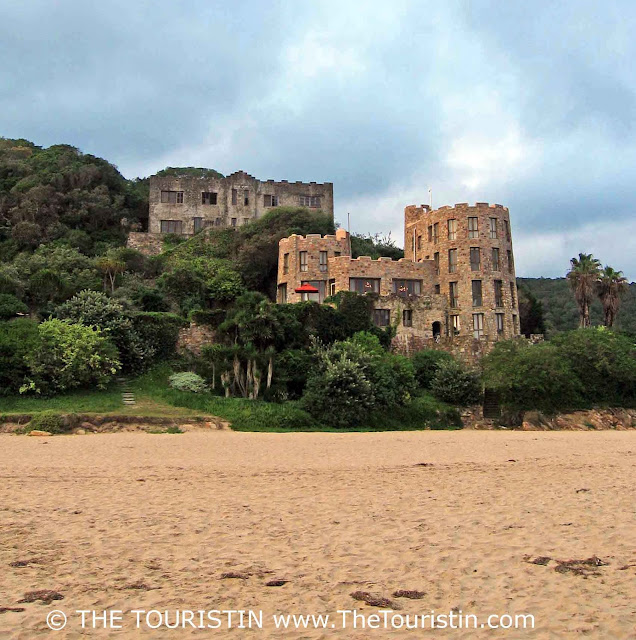 Castles on Noetzie Beach in Knysna in South Africa.