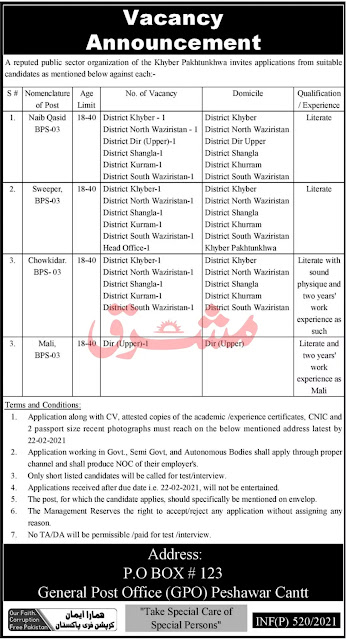 Public sector organization Jobs 2021 - Public Sector Organization Jobs in KPK