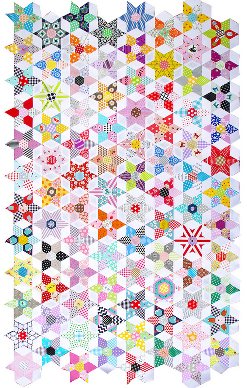 Obsession English Paper Piecing Quilt Kit   TheDIYAddict Jemimas Creative Quilting
