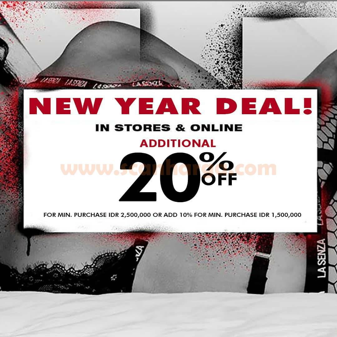 LASENZA Promo New Year Deals – Get Additional Disc. up to 20% Off