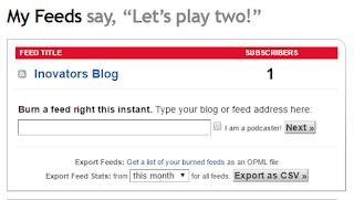 Contohnya Feed title saya: Inovators Blog