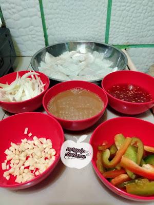 Resipi Isi Ikan Masak Sos Thai , senang dan sedap masak guna ikan dori